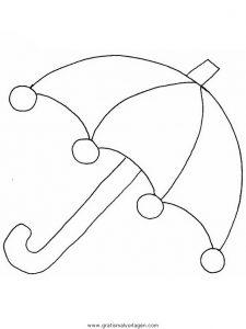 ausmalbild regenschirm - cartoon-bild
