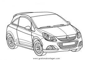 opel corsa gratis Malvorlage in Autos2, Transportmittel ...