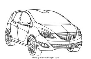 Opel Meriva Gratis Malvorlage In Autos2 Transportmittel Ausmalen