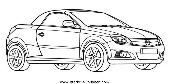 Opel Tigra Gratis Malvorlage In Autos2 Transportmittel Ausmalen