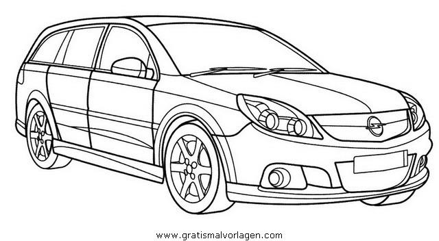 Opel Vectra Gratis Malvorlage In Autos2 Transportmittel