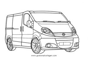 Opel Vivaro Gratis Malvorlage In Autos2 Transportmittel Ausmalen
