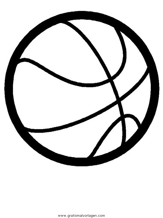 Basketball gratis Malvorlage in Basketball, Sport - ausmalen