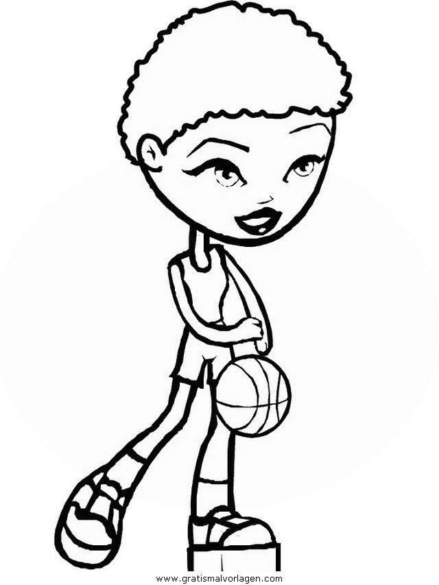 basketballerin gratis malvorlage in basketball sport