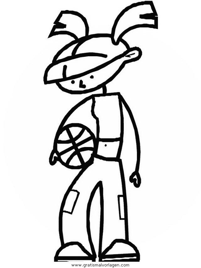 basketballer 3 gratis malvorlage in basketball sport
