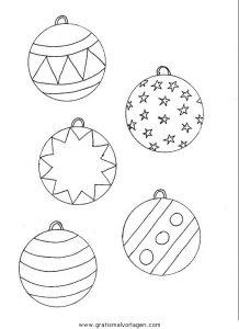 Weihnachtskugeln Gratis Malvorlage In Diverse Malvorlagen