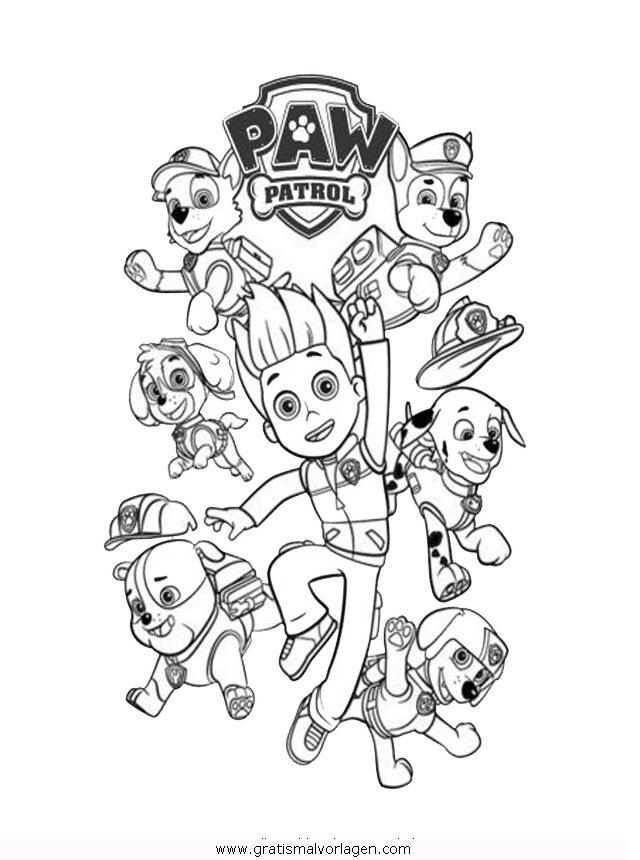 paw patrol 00 gratis malvorlage in comic