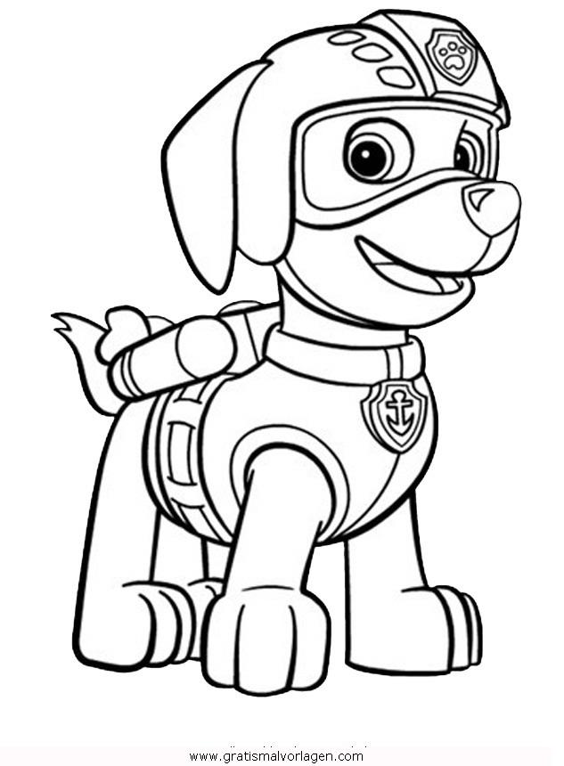 paw patrol 08 gratis malvorlage in comic