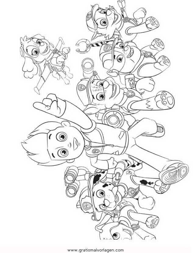 pawpatrol ryder 4 gratis Malvorlage in Comic & Trickfilmfiguren, Paw ...