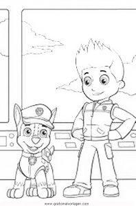 Pawpatrol Ryder 4 Gratis Malvorlage In Comic Trickfilmfiguren Paw