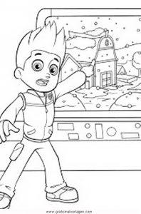 pawpatrol ryder 6 gratis malvorlage in comic  trickfilmfiguren, paw patrol - ausmalen