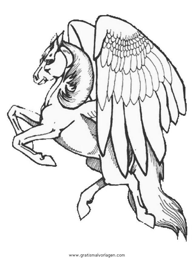 pegasus 20 gratis malvorlage in fantasie pegasus  ausmalen