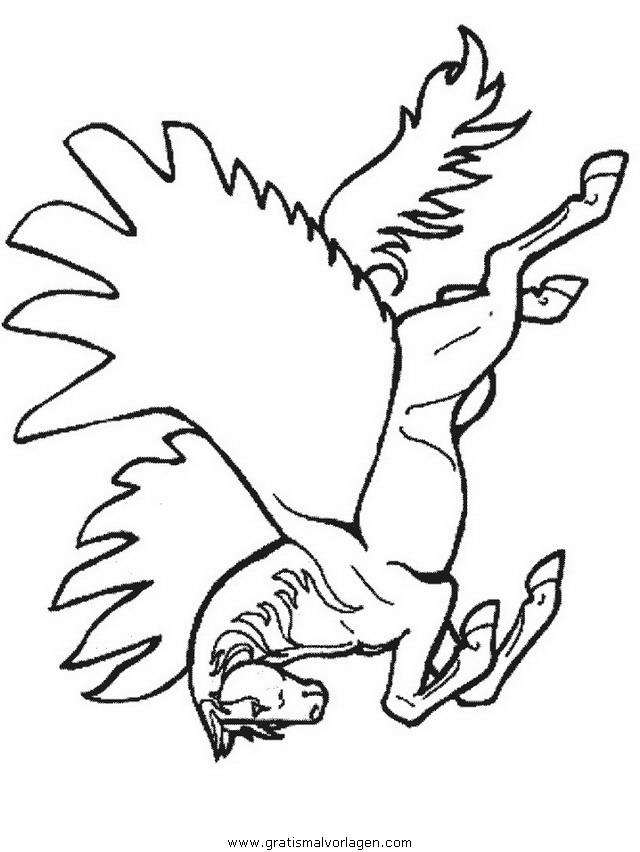 pegasus 21 gratis malvorlage in fantasie pegasus  ausmalen