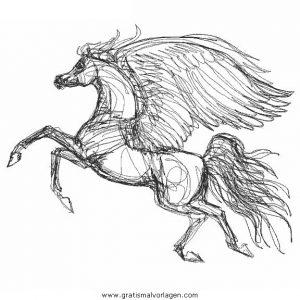 Pegasus 34 gratis malvorlage in fantasie pegasus ausmalen - Dessin de pegase a imprimer ...