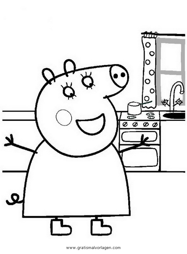 peppa wutz 01 gratis malvorlage in comic
