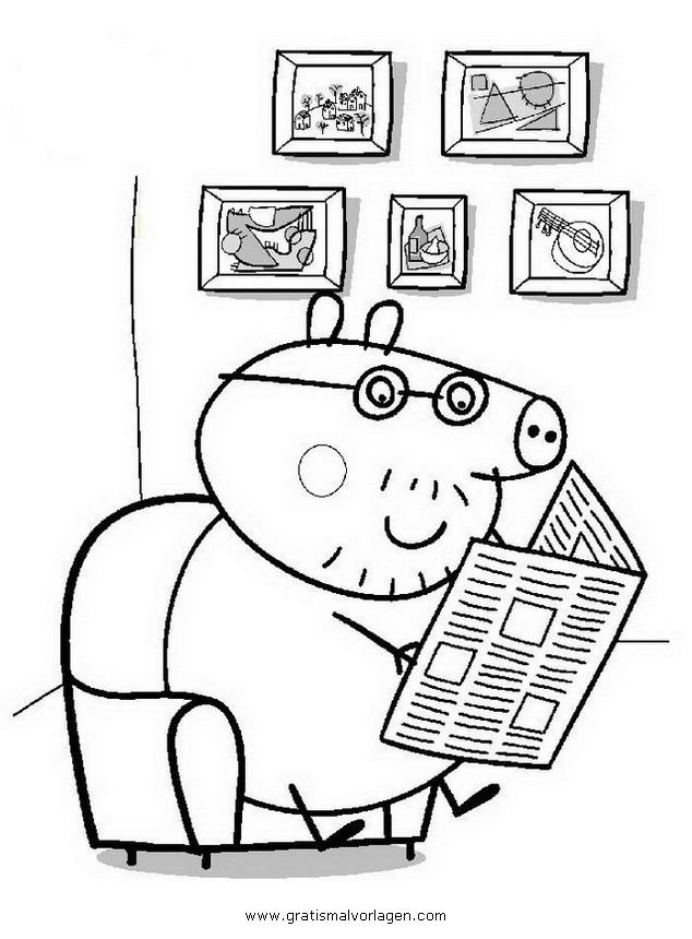 peppa wutz 02 gratis malvorlage in comic