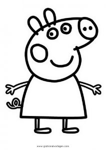 Peppa Wutz 06 Gratis Malvorlage In Comic & Trickfilmfiguren, Peppa