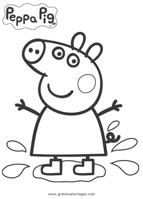 peppa wutz 12 gratis malvorlage in comic