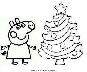 peppa wutz ausmalbild weihnachten | kinder ausmalbilder