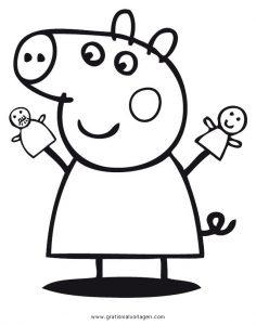 Peppa Wutz 32 Gratis Malvorlage In Comic Trickfilmfiguren Peppa