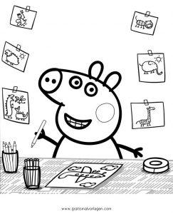 Peppa Wutz 35 Gratis Malvorlage In Comic Trickfilmfiguren Peppa