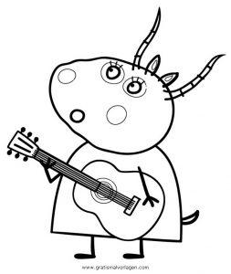 Peppa Wutz 37 Gratis Malvorlage In Comic Trickfilmfiguren Peppa