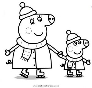 Peppa Wutz 45 Gratis Malvorlage In Comic Trickfilmfiguren Peppa