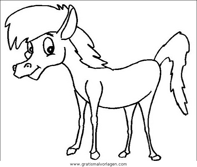 pferde 07 gratis malvorlage in pferde tiere  ausmalen