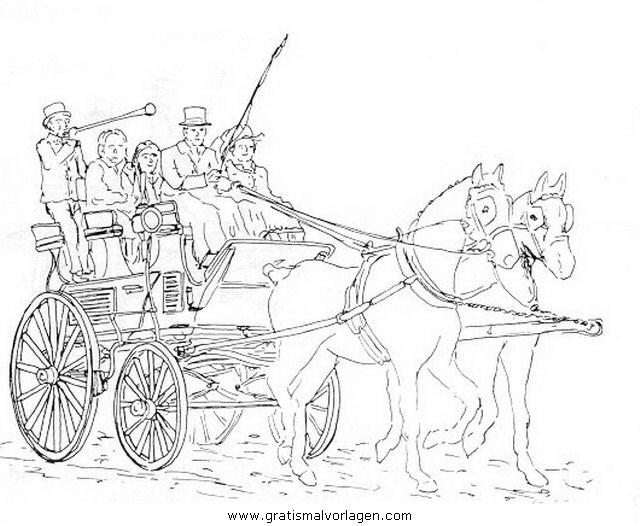 pferdekutsche 12 gratis Malvorlage in Pferdekutsche, Transportmittel ...