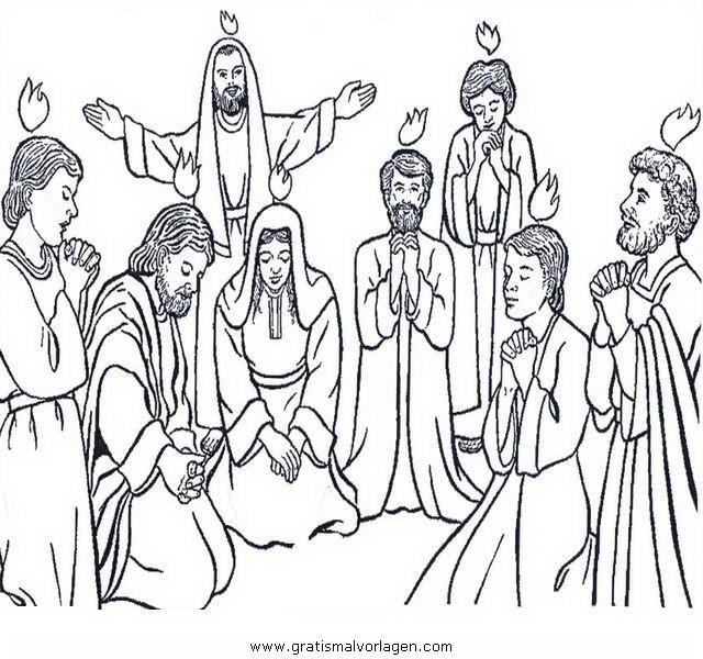 Pfingsten 2 Gratis Malvorlage In Religionen Religiose Bilder