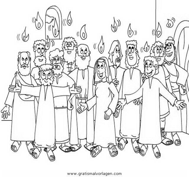 Pfingsten 3 Gratis Malvorlage In Religionen Religiose Bilder