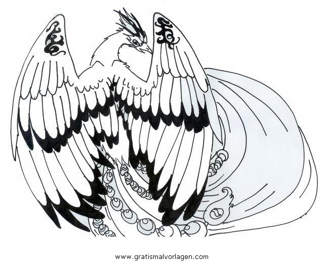 phoenix gratis malvorlage in tiere vögel  ausmalen