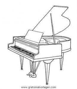 klavier 4 gratis malvorlage in diverse malvorlagen, musik