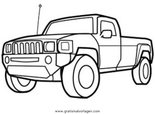 pickup gratis Malvorlage in Autos