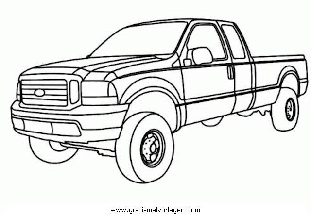 pickup 2 gratis malvorlage in autos transportmittel
