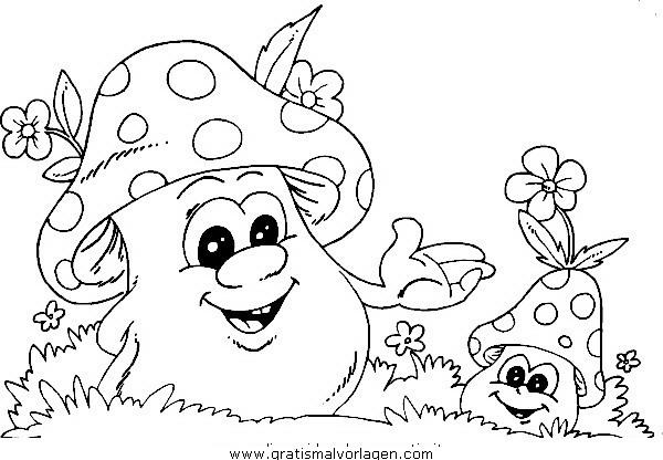 Pilze 17 Gratis Malvorlage In Herbst Natur Ausmalen