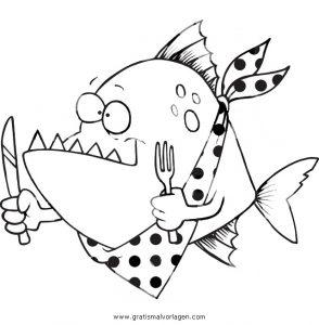 fische malvorlagen zum ausdrucken gratis - zeichnen und färben