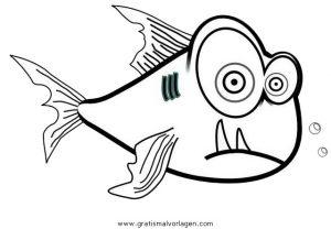 piranha 5 gratis Malvorlage in Fische, Tiere - ausmalen