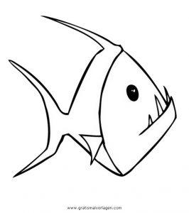 Piranha 7 Gratis Malvorlage In Fische Tiere Ausmalen