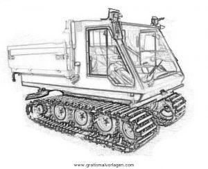 Pistenfahrzeug 2 Gratis Malvorlage In Baumaschinen Transportmittel