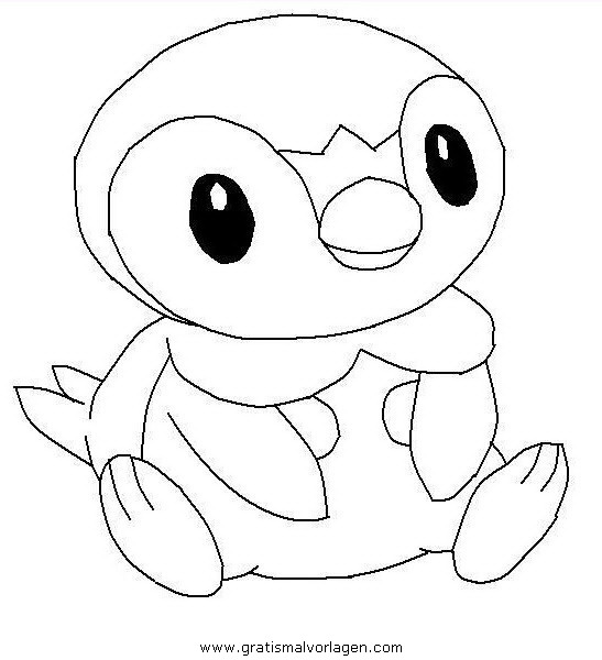 Plinfa Piplup Pokemon 0 Gratis Malvorlage In Comic