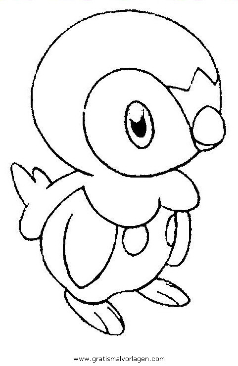 Plinfa Piplup Pokemon 1 Gratis Malvorlage In Comic