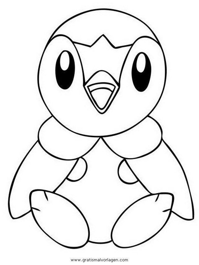 Plinfa Piplup Pokemon 2 Gratis Malvorlage In Comic