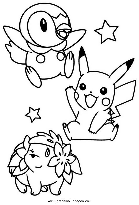 piplup coloring pages | plinfa piplup pokemon 3 gratis Malvorlage in Comic ...