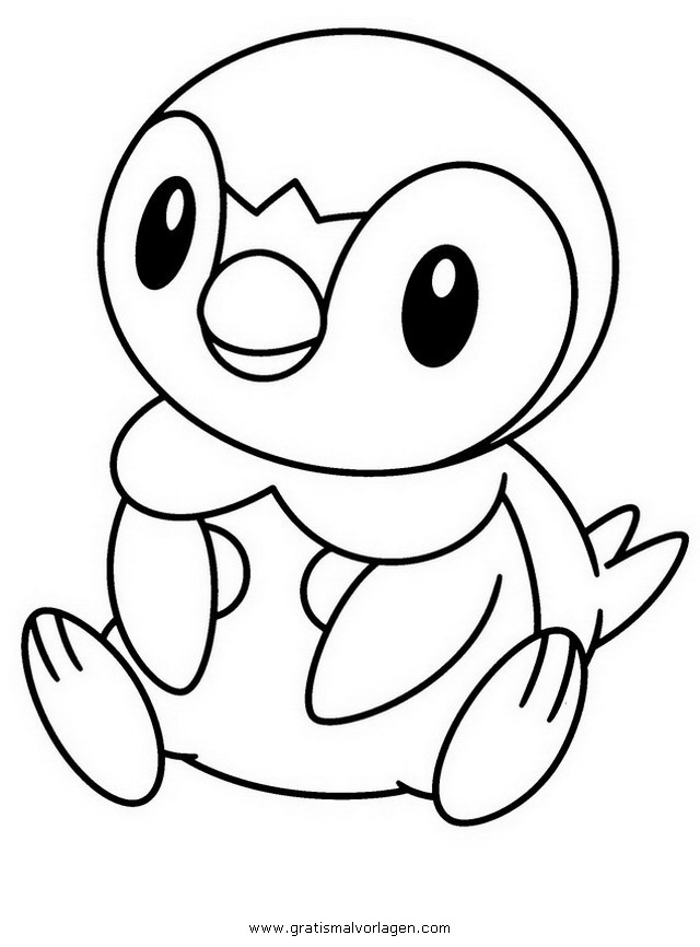 Plinfa Piplup Pokemon 4 Gratis Malvorlage In Comic