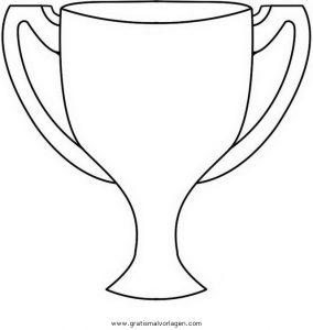 Pokal 4 Gratis Malvorlage In Beliebt02 Diverse Malvorlagen