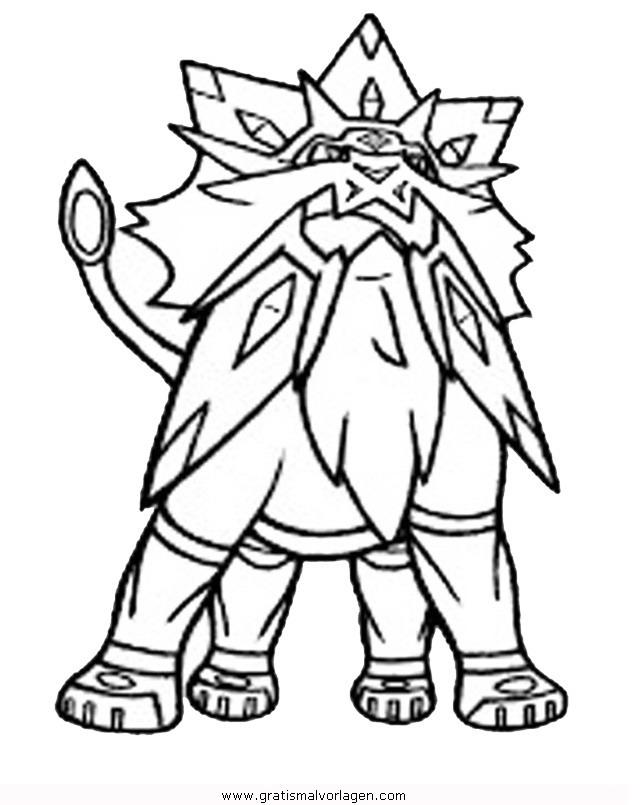 pokemon solgaleo 2 gratis malvorlage in comic