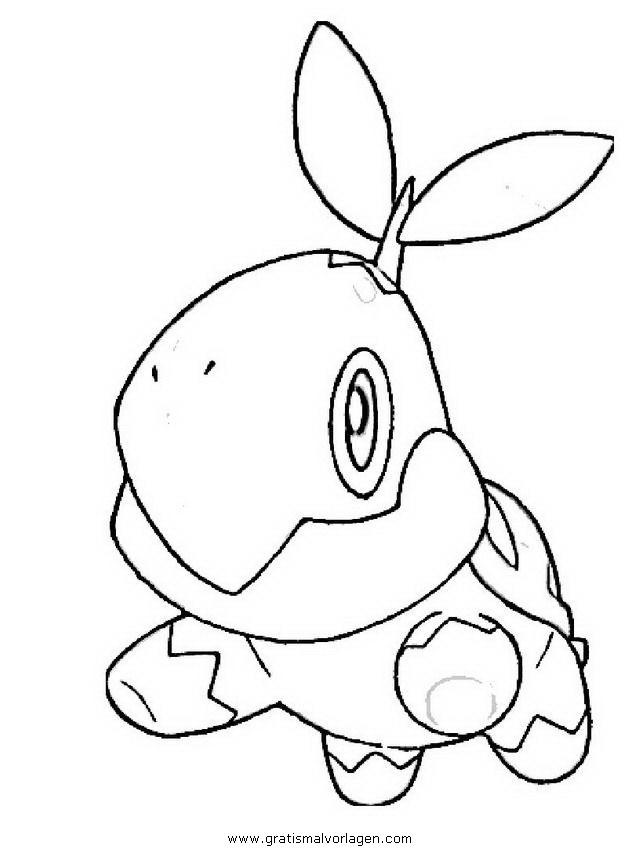 Pokemon Turtwig Chelast 4 Gratis Malvorlage In Comic