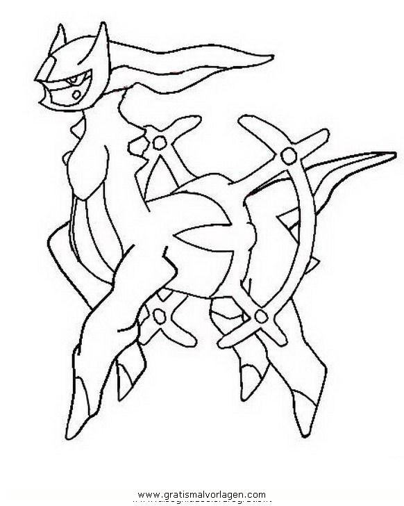 pokemon arceus gratis malvorlage in comic