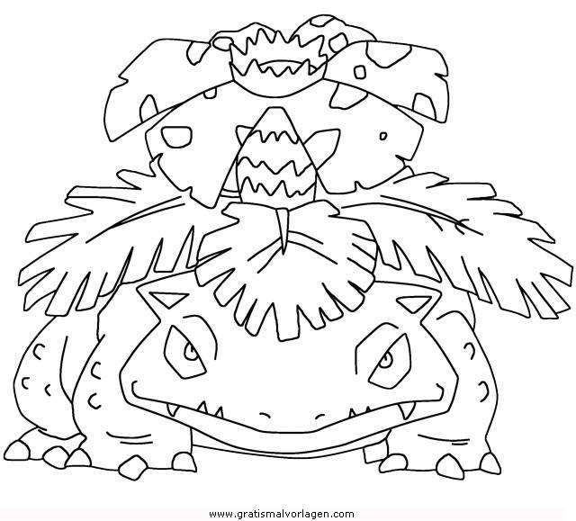 pokemon bisaflor gratis malvorlage in comic